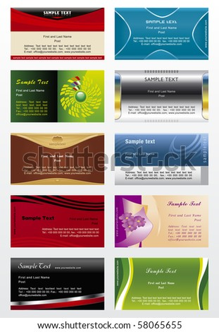 Collection vector background for business cards - stock vector