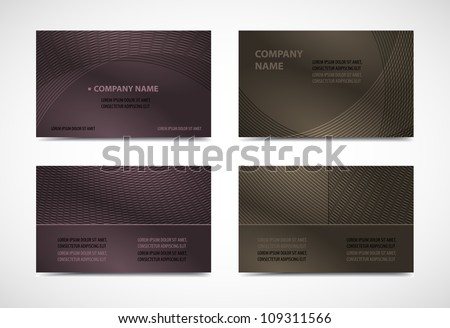 Collection vector of modern elegant business card templates - stock vector