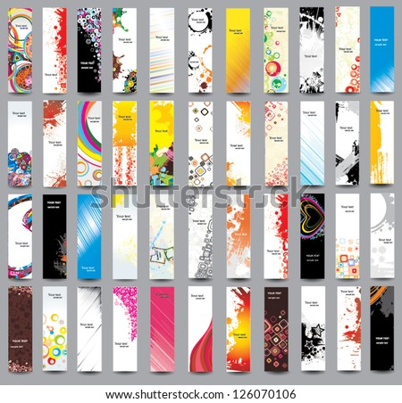 Collection Vertical banners - stock vector