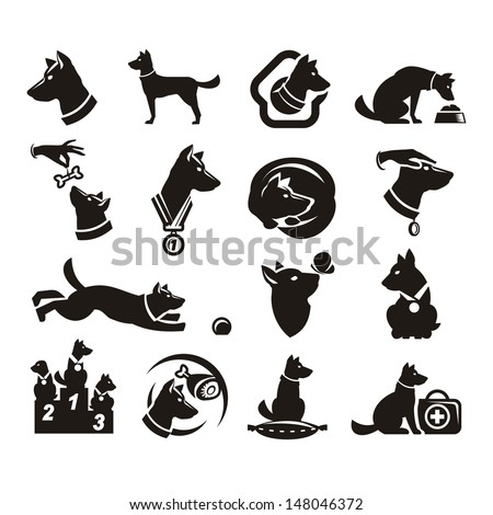 Collections doc icons - stock vector