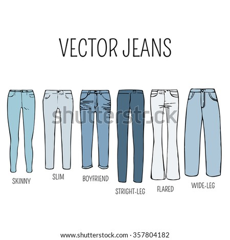 Flares jeans stock images royalty free images vectors for Types of denim shirts