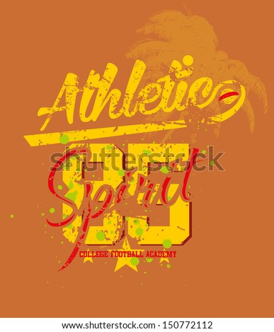 college athletic sports vector art
