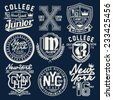 college graphic set for t-shirt