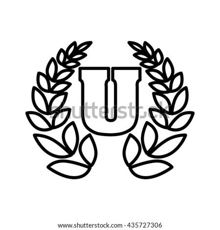 college laurel logo  , vector - stock vector