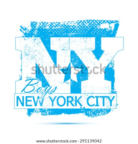 College New York City typography, t-shirt graphics, vectors. For your apparel. - stock vector