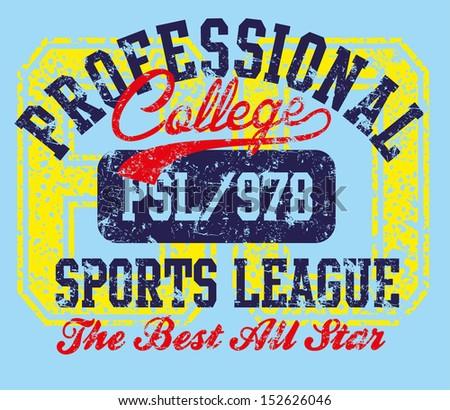 college sports design vector art - stock vector