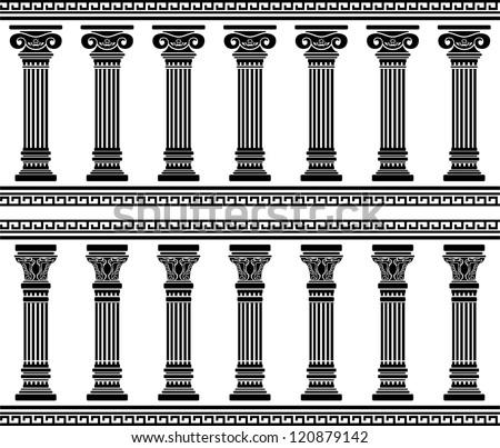 colonnade. stencil. vector illustration - stock vector