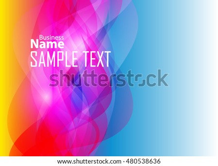 Color abstract background for business card or banner