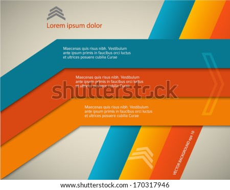 Color abstract background lines. Vector illustration. Can use for business workflow layout, web design, booklet cover, banner template, page magazine, advertising brochure design elements