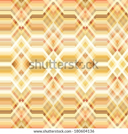 Color Abstract Retro Vector Striped Background, Fashion Zigzag Seamless Patterns of Yellow and Beige Stripes - stock vector