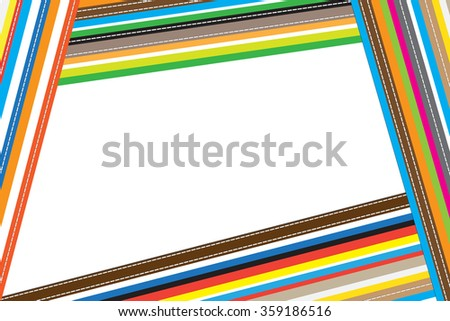 Color abstract vertical with stitch for background