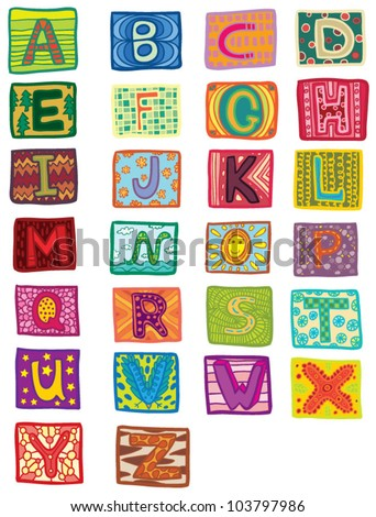 color alphabet - stock vector