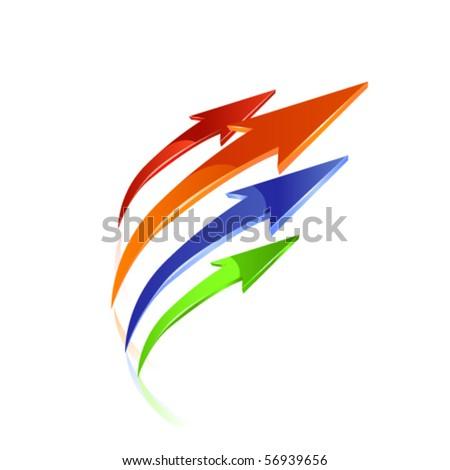 Color arrows. Vector - stock vector