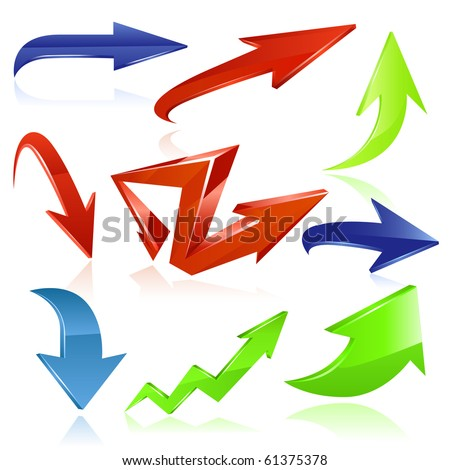 Color arrows. Vector - stock vector