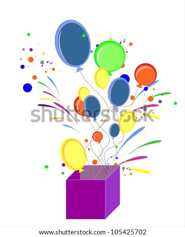 Color balloons - stock vector