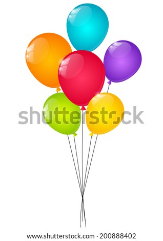 Color balloons for Your design - stock vector