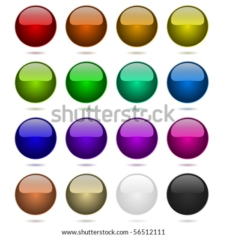 Color balls vector set. - stock vector