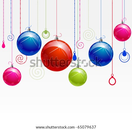 color balls with color decor