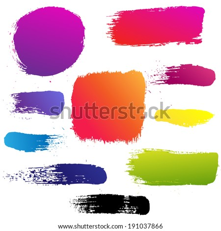Color Blots Set, Vector Illustration - stock vector