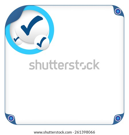 color box for entering text and check box - stock vector