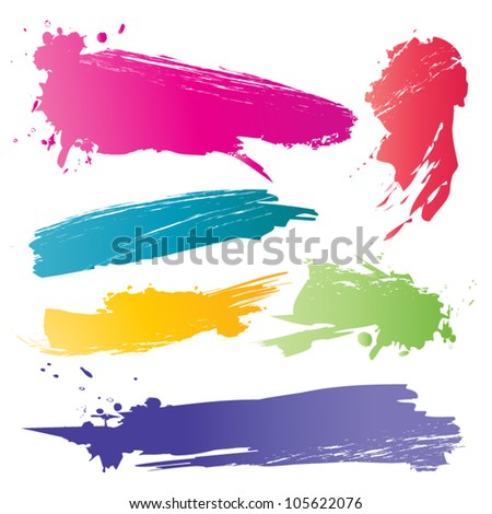 Color brushstroke - stock vector