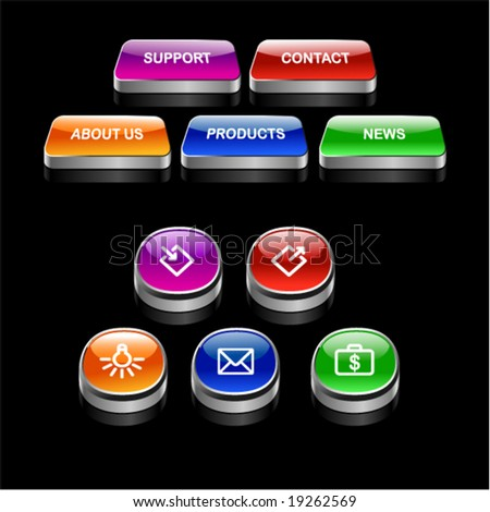 Color buttons - stock vector