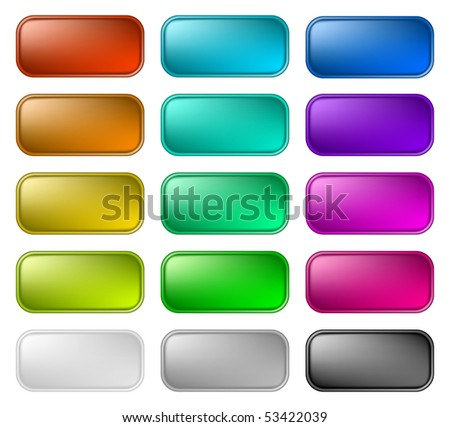 Color buttons 2 - stock vector