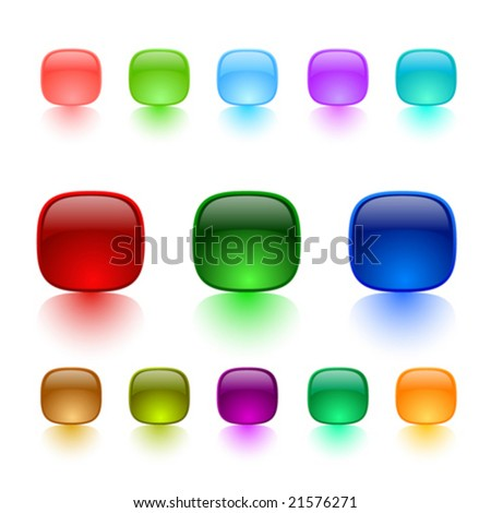 Color buttons on white background