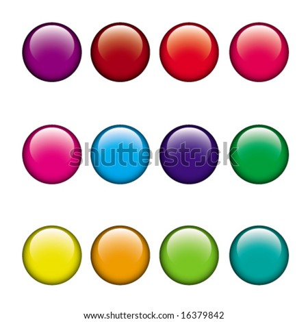 color buttons set - stock vector