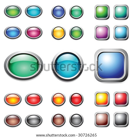 Color buttons set. Vector. - stock vector