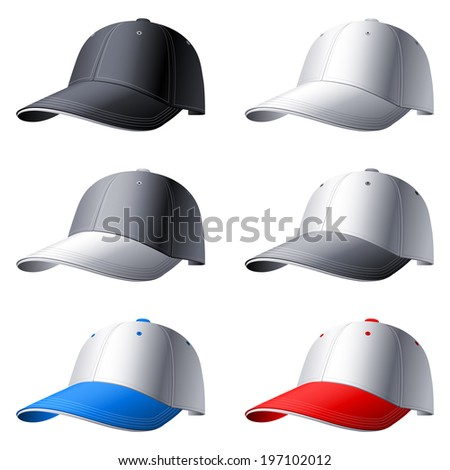 Color caps. - stock vector