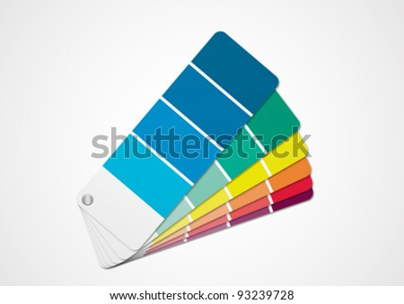 Color chart - stock vector