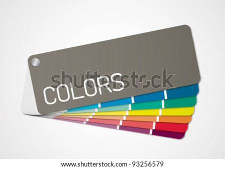 Color chart 2 - stock vector