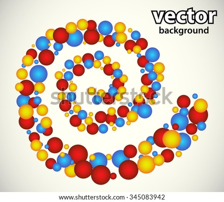 Color circles in spiral - stock vector