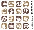 Color Coffee Icons Set Created For Mobile, Web And Applications. - stock vector