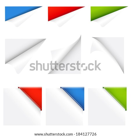 Color Collection Corners, With Gradient Mesh, Vector Illustration - stock vector