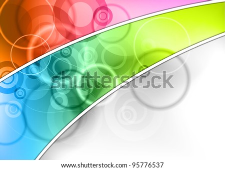 color corner on the abstract background