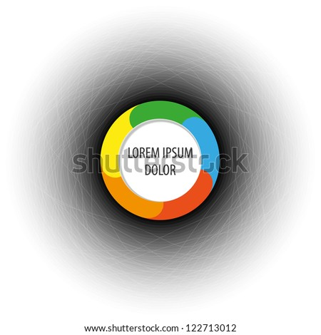 Color diagram / schema button. Place for your text or number - stock vector