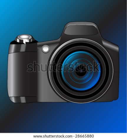 Color digital camera. Vector illustration.