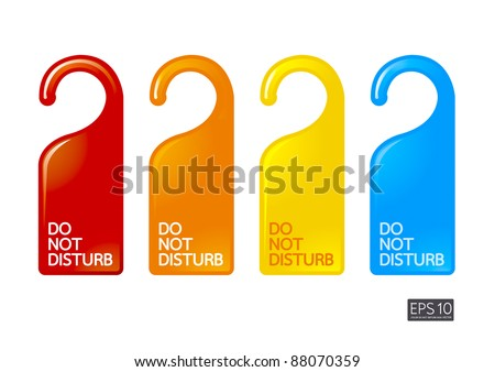 color do not disturb - stock vector