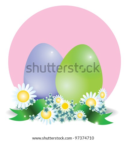Color eggs - stock vector