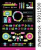 color elements of infographics - stock vector