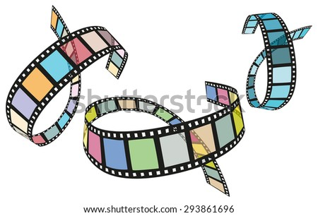 color films - stock vector