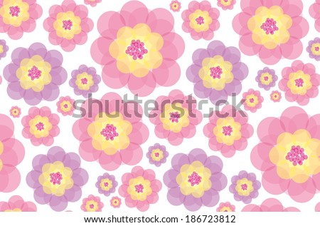 color flora seamless pattern background, eps 10, vector, illustrator