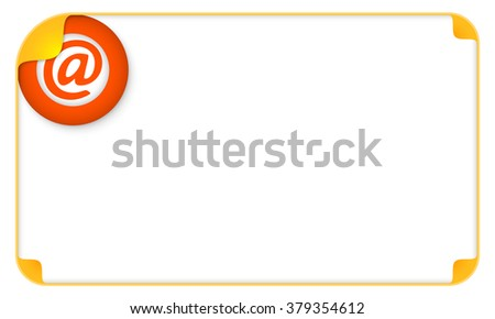 Color frame for your text and a email icon - stock vector