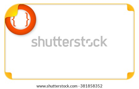 Color frame for your text and a square brackets - stock vector
