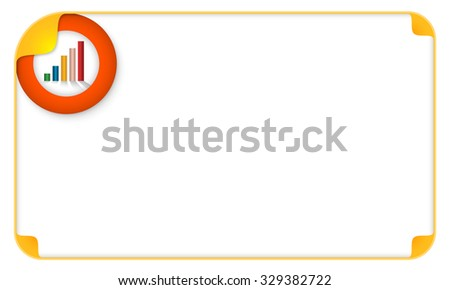 Color frame for your text and graph - stock vector