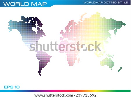 Color full world map dotted style stock vector 239915692 shutterstock color full world map dotted style illustration easy to modify gumiabroncs Image collections