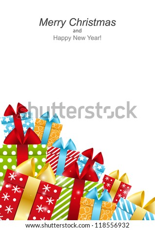 Color  gift boxes - concept of holiday - stock vector