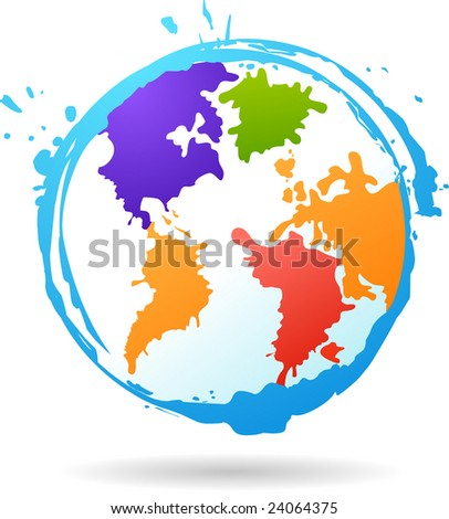 color glob - stock vector